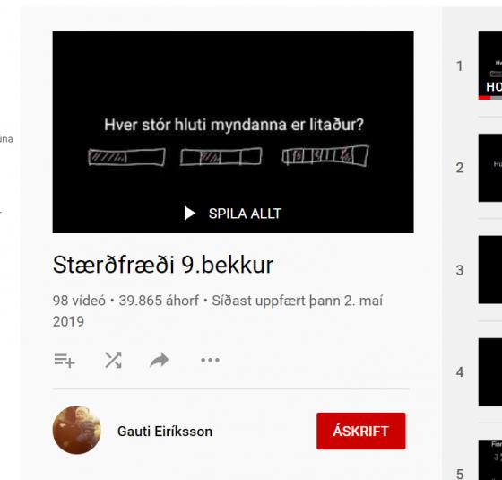 stærðfræði 9